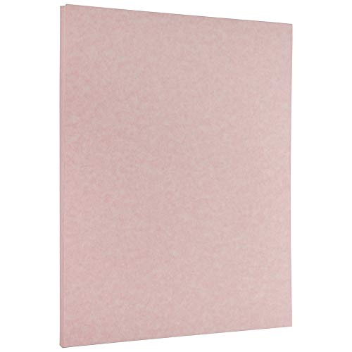 JAM PAPER Parchment Paper - 215.9 x 279.4 mm - 90gsm - Pink Ice Recycled - 100 Sheets/Pack