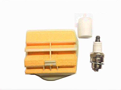 Compatible with Husqvarna 445, 450, Jonsered 2250,2245 Tune Up Kit, New Air Filter, Fuel Filter & Spark Plug Ships from The USA