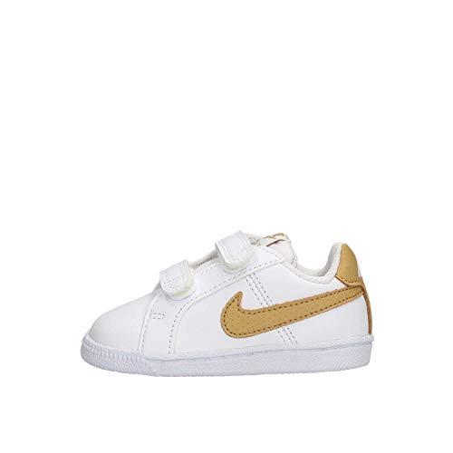 Nike Court Royale (TDV), Zapatillas de Estar por casa Unisex niños, Multicolor (White/Club Gold 105), 21 EU