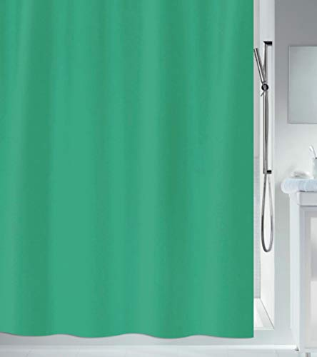 CUCO'S NEST Duschvorhang aus PEVA, 180 x 180 cm, dunkelgrün, Duschvorhang, wasserdicht, schimmelfest, antibakteriell, inkl. 12 Ringe