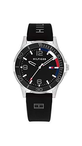 Tommy Hilfiger Jungs Analog Quarz Uhr mit Silicone Armband 1720017