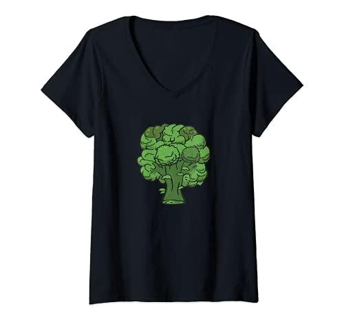 Mujer Brcoli Forever - Disfraz de verdura divertida y saludable Camiseta Cuello V