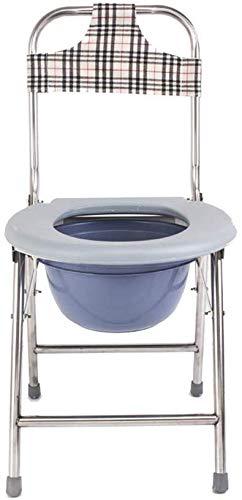 FREIHE 2-in-1 toiletbril, opklapbare commode stoel, medische douchestoel, antislip voetkussen, afneembare rugleuning/vat, zware dienst, geschikt voor patiënten, senioren, zwangere vrouwen