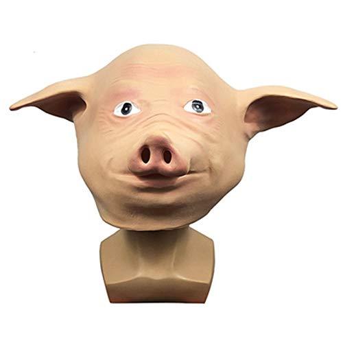 YHX Mscara de Sombrero de Cerdo Lindo, Sombrero de Cerdo Divertido para Fiesta de Disfraces, Accesorios de actuacin de Fiesta de Bar