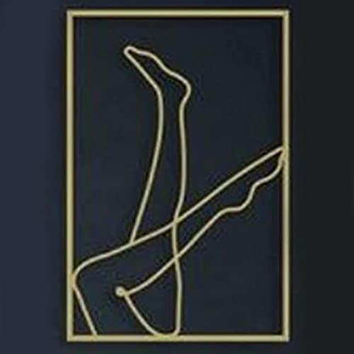 YOISMO 3D Moderne Abstrakte Weibliche Körperkunst Wandaufkleber DIY Abnehmbare Goldene Acryl Foto Wandtattoos Wandbilder Dekoration Kunst - B