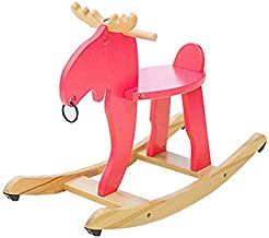 Chairs Children's Toddler Wooden Car Elk Wooden Horse Rocking Chair