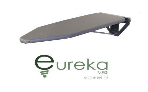Eureka_MFG Compact Wall Mounted Ironing Board - Silver Wall Fixing Plate