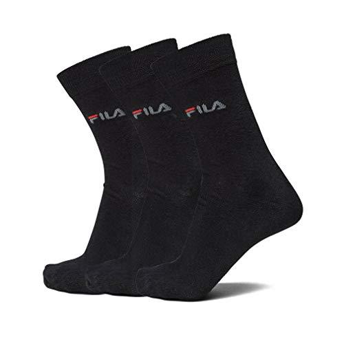 Fila Unisex Street Socks 3-Pack F9630 Black Calcetines