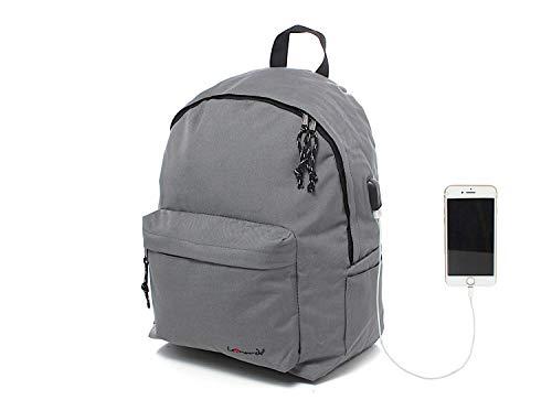 Leonardo Zaino scuola Classico con Lucchetto, Imbottito per Tablet, iPad, Porta PC, Computer, MacBook 15