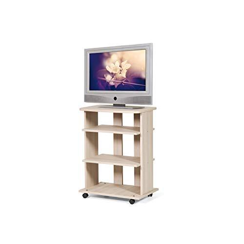 WEBMARKETPOINT Carrello Porta TV Olmo 3 Ripiani C/rotelle Cm 60x45xh 81