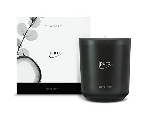 ipuro Classic Duftkerze noir - Raumduft mit orientalischer Wirkung - Kerze mit hochwertigen Inhaltsstoffen 270g - Perfekt als Geschenk