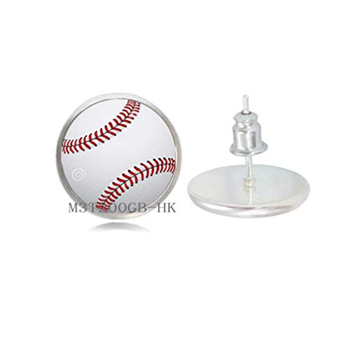 Pendientes colgantes de béisbol, pendientes de béisbol, joyería deportiva de béisbol, pendientes para hombre, jugador de béisbol, regalo de béisbol para mamá del equipo, regalo de abanico de béisbol MT018