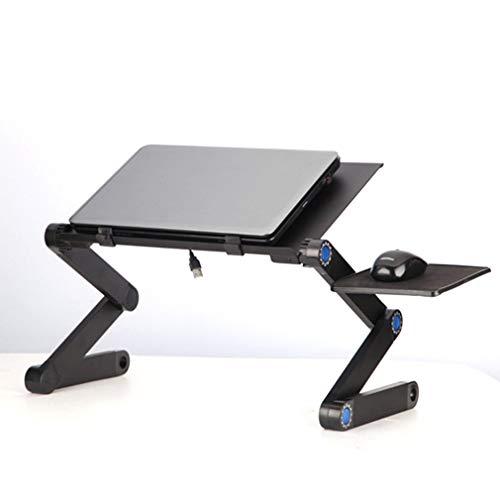 TIUENHAVU Supporto per Laptop Pieghevole Regolabile Tavolo da Tavolo da Tavolo per Divano Letto Ufficio Laptop Stand Desk Tavolo da Letto Notebook Black