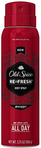 Old Spice Re-Fresh Body Spray, Swagger 3.75 oz (Pack of 12)