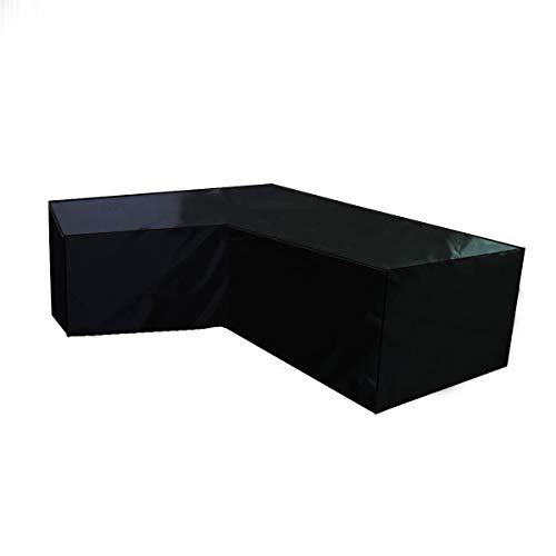 SlimpleStudio Patio Furniture Cover Waterproof,Outdoor furniture cover left L-shaped corner sofa waterproof cover 210D black-200x270cm