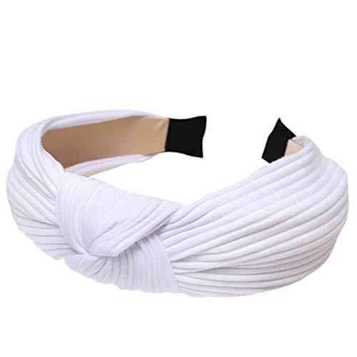 Satiable Haarreife Damen Stoff Streifen Stirnbänder Frauen Mode Twist Knoten Retro 90er Jahre Haarschmuck Mädchen Breites Stirnband für Frau und Mädchen Spanische Vintage Style Haarbänder
