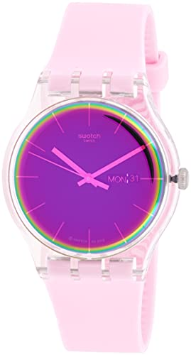 Swatch Reloj Analógico para Mujer de Cuarzo con Correa en Silicona SUOK710