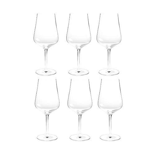 Summa - Copas de vino tinto. Set de 6 unidades. 620ml/62cl | Cristal, alta transparencia y borde fino | Uso en casa, restaurante y fiestas |