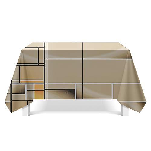 DREAMING-Geometrisches Muster Kunst Tischdecke Home Esstisch Stoff Tv-Schrank Couchtisch Stoff Runde Tisch Tischset 85cm * 85cm