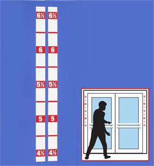 HM-101R Height Marker Door Strip (Set of 2)