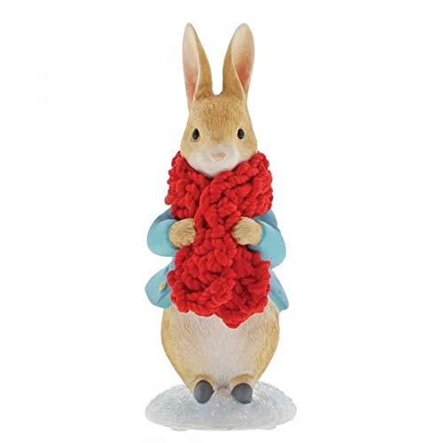 Figurine Peter Rabbit Beatrix Potter dans une écharpe de fête