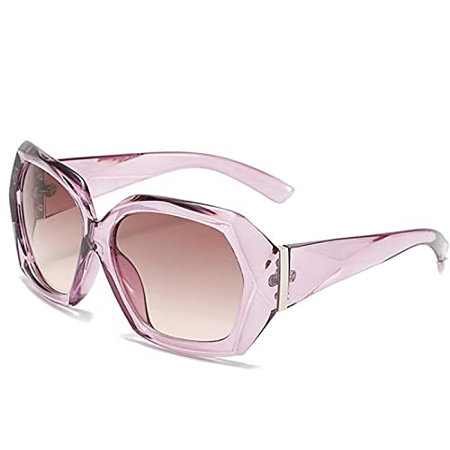 Gafas De Sol Gafas De Sol De Gran Tamaño para Mujer con Diseño De Rombos Y Diseño De Rombos para Mujer, Gafas De Color Rosa Degradado Aspictura