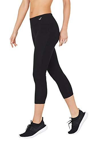 Boody Body EcoWear Active Women's 3/4 Leggings Made from Natural Organic Bamboo Viscose – Soft Breathable Eco Fashion for Sensitive Skin - Black, X-Large