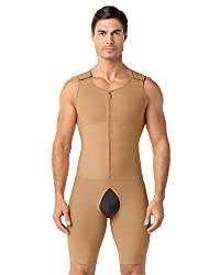compression bodysuit beige