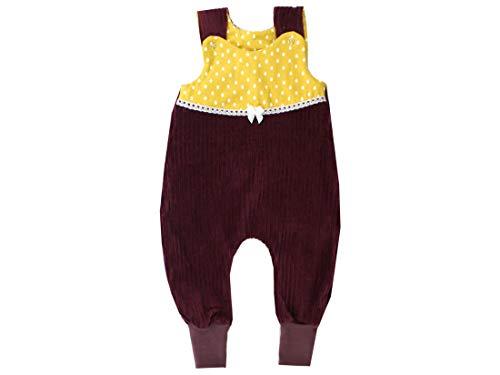 Kleine koningen baby rompler meisje baby body · model regendruppels rib geel regendruppels met kant en lus, wijnrood · Ökotex 100 gecertificeerd · maten 50-92