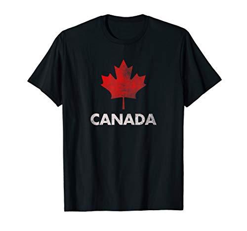 Vintage Retro Canadian Maple Leaf Shirt Canada Flag T-shirt