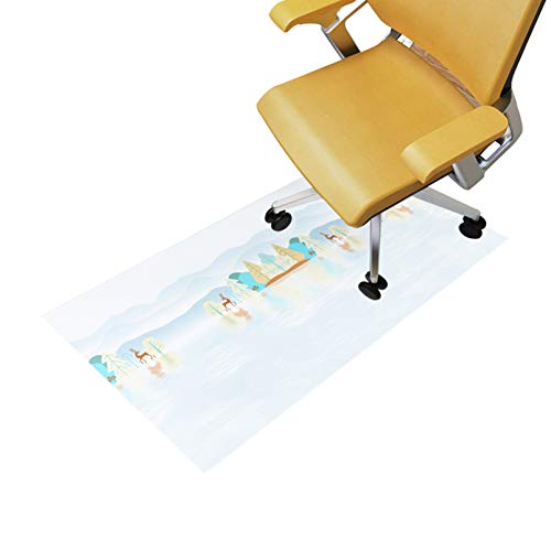 QYQS Bodenmatte, Matte für Bürostuhl, Frei Cuttable, für Holzboden, Steinboden und Andere Harte Böden(Size:85x140cm/33x55in)