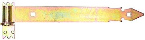 KOTARBAU® Ladenband 400 mm mit Kloben Torband Türband Torscharnier Scharnier Band Baubeschlag Torbeschlag Türbeschlag Rostfrei Torzubehör Verzinkt Gelb