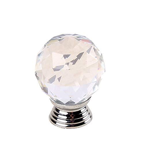 YAzNdom keramisch handvat circulaire transparant kristal glas knop kast kasten hand in hand met schroeven de dressoir lades geschikt voor kast kasten