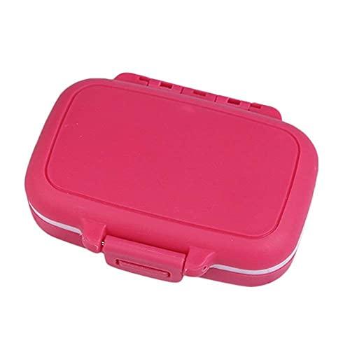 HGJINFANF Ligero y Conveniente, Esencial para Viajes en casa Caja de Pastillas en Estuche de plástico Píldora Portátil Mini Píldora Medicina Organizador de Viaje para Uso Rojo Rosa (Color : Red Rose)