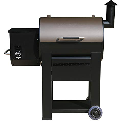 Monument 89679 Wood Pellet Grill Outdoor Smoker Grill with 572 sq in Bronze with Manual Control