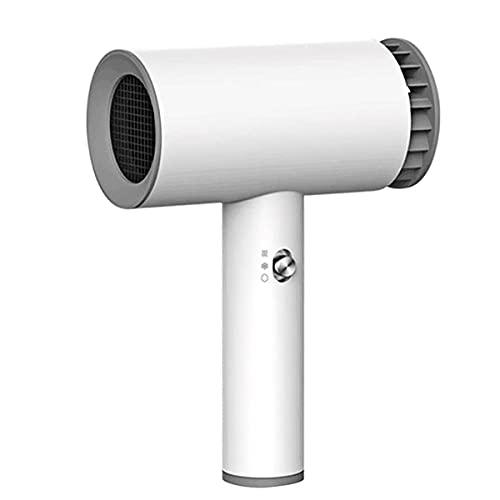 KIUY Asciugacapelli USB Senza Fili Multifunzione 1000W Potente Motore CA Asciugacapelli a ioni ad Asciugatura Rapida 2 Livelli Regolabili Caldo e Freddo per Uomini e Donne