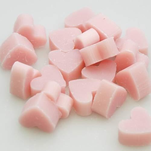 Florex Schafmilchseife rosa mini mini Herz 100 Stück Magnolie Seife im Organzasäckchen Gastgeschenk
