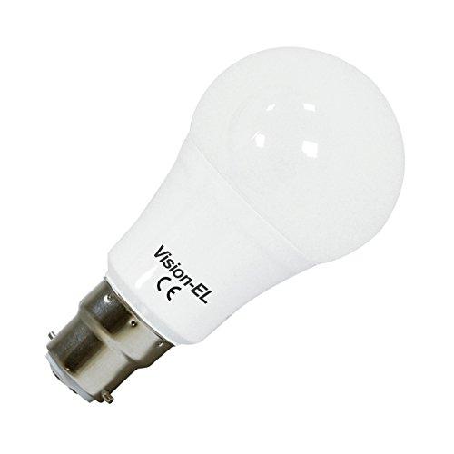 Vision-EL 77394B2 Ampoule LED B22 Bulb 12W 1100 LM 3000°K, Aluminium/PC, 12 W, Dépoli