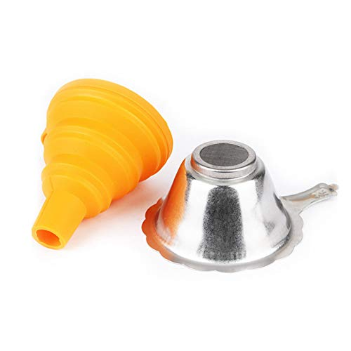 Eamqrkt Metal UV-hars filter cup + silicon funnel Disposable for Anycubic Photon SLA 3D-printer