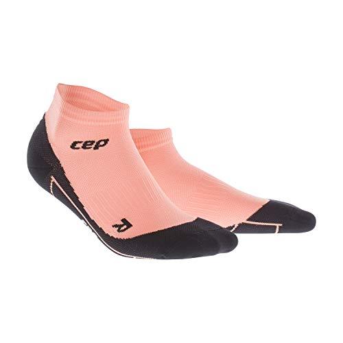 CEP - Compression Low Cut Socks für Damen | Kurze Sportsocken mit Kompression in orange | Größe III