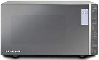 Micro ondas Brastemp 32 Litros cor Inox Espelhado com Grill e Painel Integrado   110V