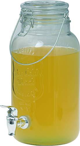 Clic-And-Get Dispensador de bebidas con grifo, 4 L, 5 L, 8 L, cristal, grifo Enjoy dispensador de agua, dispensador de limonada, dispensador de zumo, dispensador de bebidas (dispensador de 8 L)