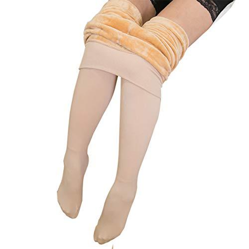 Ayujia One Size Damen Winter Jeggings Damen Warme Leggins Mujer Hosen Hohe Taille Dicke Samthosen Legging Feste Schlanke Leggings