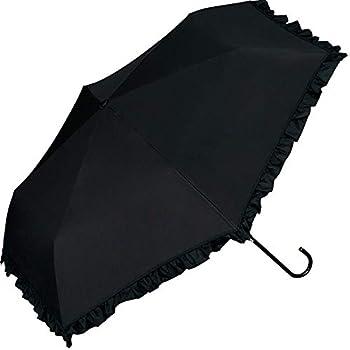 ワールドパーティー(Wpc.) 日傘 折りたたみ傘 黒 50cm レディース 傘袋付き 遮光クラシックフリルミニ 801-134 BK