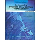 FUNDAMENTALS OF BUSINESS ORGANISATION AND MANAGEMENT
