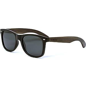 Ebony Wood Sunglasses For Men and Women with Black Polarized Lenses