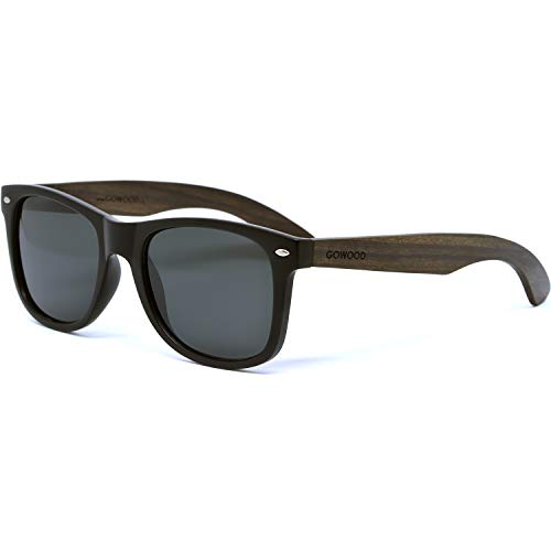 Ebony Wood Sunglasses For Men and Women with Black Polarized Lenses
