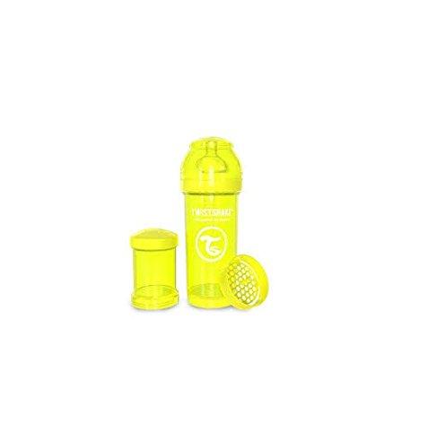 Twistshake - Anti-Colic Baby Bottle with Mixer, Yellow, Size: 260ml