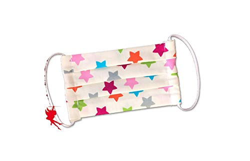 Mund-Nasen-Maske bunte Sterne für Kinder Alltagsmaske Baumwolle