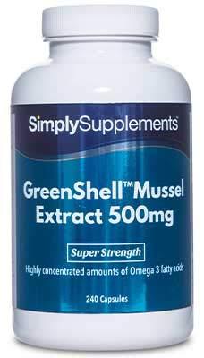Extracto de Mejillón de Labio Verde 500mg - 240 cápsulas - ¡Bote para 4 meses! - SimplySupplements
